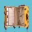 กระเป๋าเดินทางวินเทจ รุ่น vintage retro แดงคาดน้ำตาล ขนาด เซ็ตคู่ ขนาด 12+24 นิ้ว thumbnail 2
