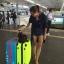 กระเป๋าเดินทางล้อลากไฟเบอร์ รุ่น colorful เขียวขอบดำ ขนาด 20/24/28 นิ้ว thumbnail 3