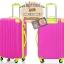 กระเป๋าเดินทางล้อลากไฟเบอร์ รุ่น colorful ชมพูขอบเขียว ขนาด 20/24/28 นิ้ว thumbnail 3