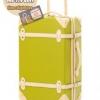 กระเป๋าเดินทางวินเทจ รุ่น colorful เขียวมะนาวคาดชมพูอ่อน ขนาด 20 นิ้ว