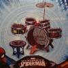 กลองฮีโร่ Spider man ชุดใหญ่ 5 ใบ พร้อมเก้าอี้ ไม้ตีกลอง