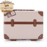 กระเป๋าเดินทางวินเทจ รุ่น retro box น้ำตาลอ่อนคาดน้ำตาลเข้ม ขนาด 13 นิ้ว