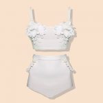 [Size S] Daisy set (สีขาว) ชุดว่ายน้ำ ทูพีทแนววินเทจ