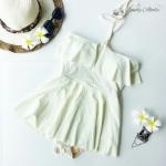 (Size M) ชุดว่ายน้ำ วันพีชกระโปรง ชุดสีขาว