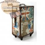 กระเป๋าเดินทางวินเทจ รุ่น vintage classic ลายธงชาติอังกฤษ ขนาด 22 นิ้ว