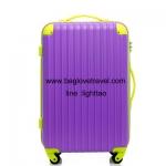 กระเป๋าเดินทางล้อลากไฟเบอร์ รุ่น colorful ขม่วงขอบเขียว ขนาด 20/24/28 นิ้ว