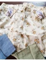 M babyruy กางเกงกระโปรงขายาวผ้าฝ้ายลายดอกไม้