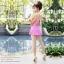 (Free Size) ชุดว่ายน้ำ ทูพีช บราเป็นแบบตะขอหลัง สีม่วงอ่อน กางเกงกระโปรงสีม่วงอ่อน ชุดว่ายน้ำ คอโบว์ thumbnail 4