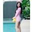 (freesize) ชุดว่ายน้ำแขนยาว วันพีช สีชมพู คุณสมบัติกันแดดและUV ปกป้องผิว thumbnail 1