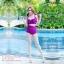 [Size S,M] Over Cross (สีม่วง) ชุดว่ายน้ำ ทูพีทแนววินเทจ บราไขว้หน้า กางเกงเอวสูง thumbnail 3