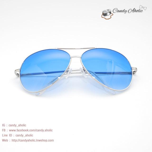 แว่นตากันแดดแฟชั่น สีฟ้า