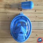 Freewell Easy Snorkel Full Face Mask สำหรับเด็ก พร้อม Mount สำหรับใส่กล้อง GoPro สีฟ้า