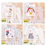 **ชุดเซ็ตชุดนอนน้องหมีเด็กเล็ก | ขอบแดง | 55-60-65-70 | 4ชุด/แพ๊ค | เฉลี่ย 130/ชุด