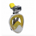 Freewell Easy Snorkel Full Face Mask พร้อม Mount สำหรับใส่กล้อง GoPro สีเหลือง Size L ผู้ชาย