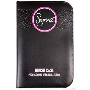 ลด 20 % SIGMA :: Brush Case - Black กระเป๋าหนังใส่แปรงสีดำ สุดหรู เงางาม สามารถใส่แปรงทุกขนาดได้ถึง 29 ชิ้น