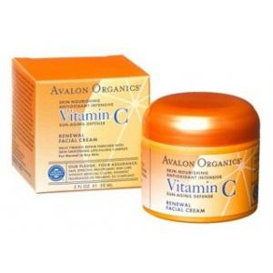 AVALON ORGANICS :: Vitamin C Renewal Facial Cream ให้ความชุ่มชื้น ยกกระชับ ปรับโทน กระจ่างใส สำหรับผิวธรรมดา-ผิวแห้ง