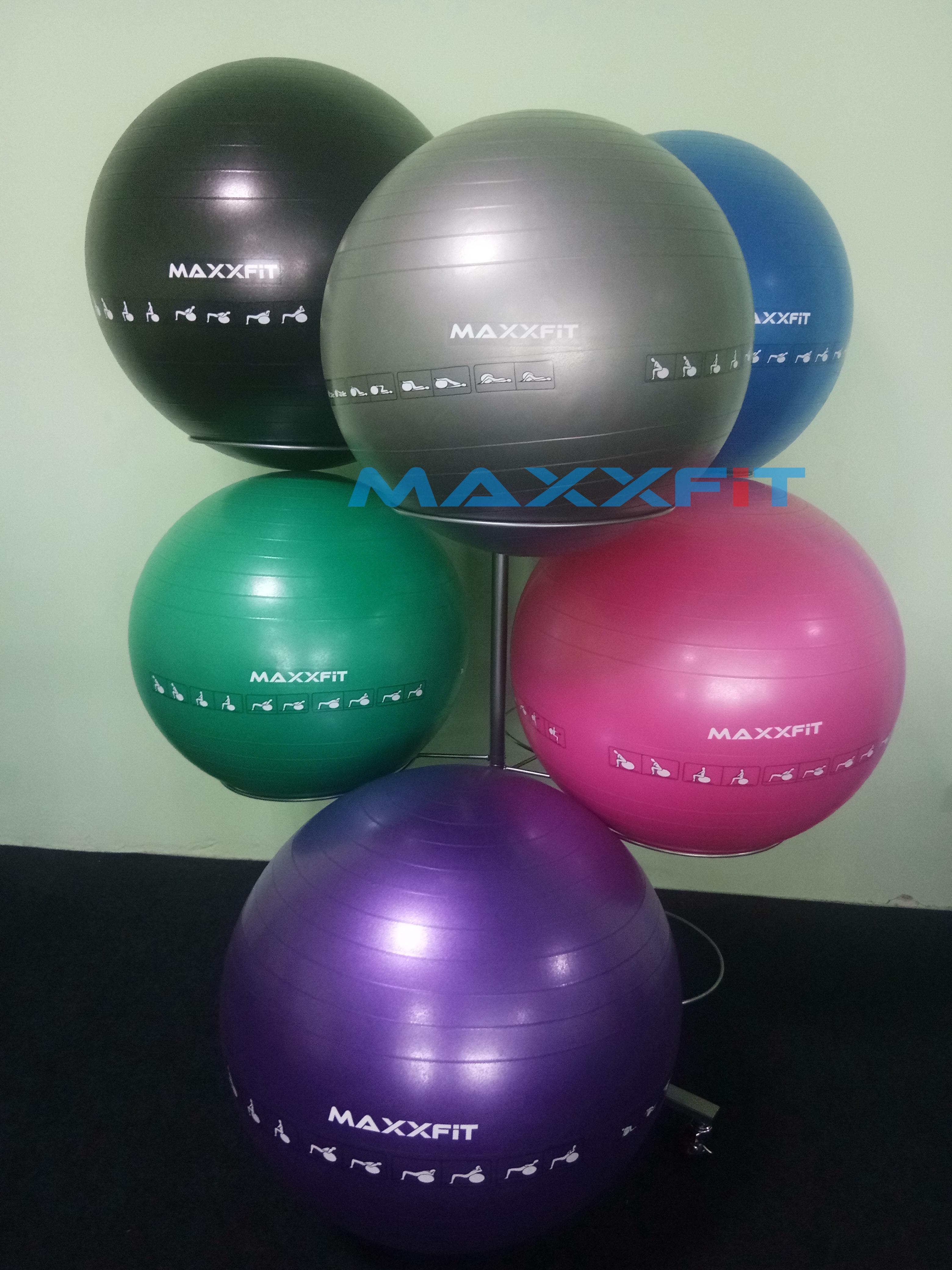 MAXXFiT ANTI-BURST GYM BALL FITBALL With Pump