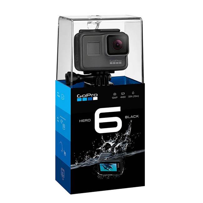 กล้อง GoPro Hero 6 Black รุ่นใหม่ 4K/60FPS กันน้ำลึก 10 เมตร