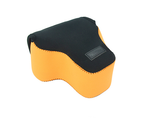 Case กล้อง NEOPINE สีส้มดำ สำหรับกล้อง SONY A7/A7R ที่ใช้เลนส์ 28-70 27-70 สีส้มดำ