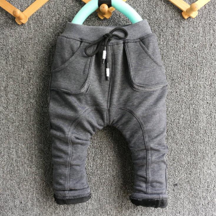 ***กางเกงขายาวผ้านิ่ม กระดุมดำ | เทาเข้ม | 110-150 | 5ตัว/แพ๊ค | เฉลี่ย 180/ตัว