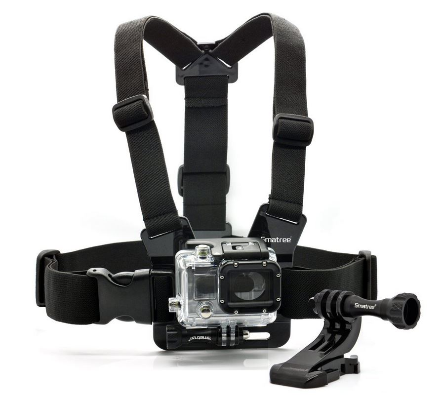 CB001 - Smatree® Chest Belt/Strap Harness Mount+ Aluminum Thumbscrew+J-Hook for Gopro Hero4 Hero3+ Hero3 Hero2,SJ4000,SJ5000, Cameras Adjustable