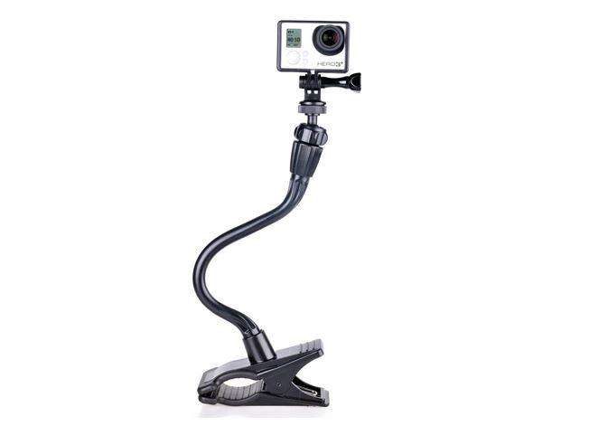 "Smatree Ajustable GoPro Clamp Mount+ Tripod Mount with 13.4"" Gooseneck Extension + 1 PC Smatree Black Screw for GoPro Hero 4, Hero 3+, Hero 3, Hero 2 HD SJ4000,SJ5000"