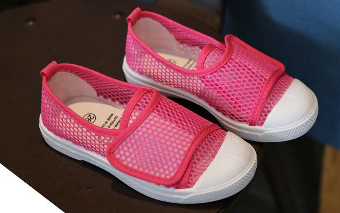 **รองเท้าตาข่ายหุ้มส้น2 | ชมพู | 25-30(25=16.5cm.) | 6คู่/แพ๊ค | เฉลี่ย 135/คู่