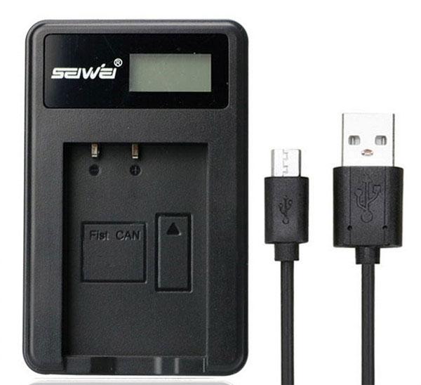 แท่นชาร์จแบตเตอรี่ USB สำหรับ OLYMPUS BLH-1 (OMD EM1 Mark II)