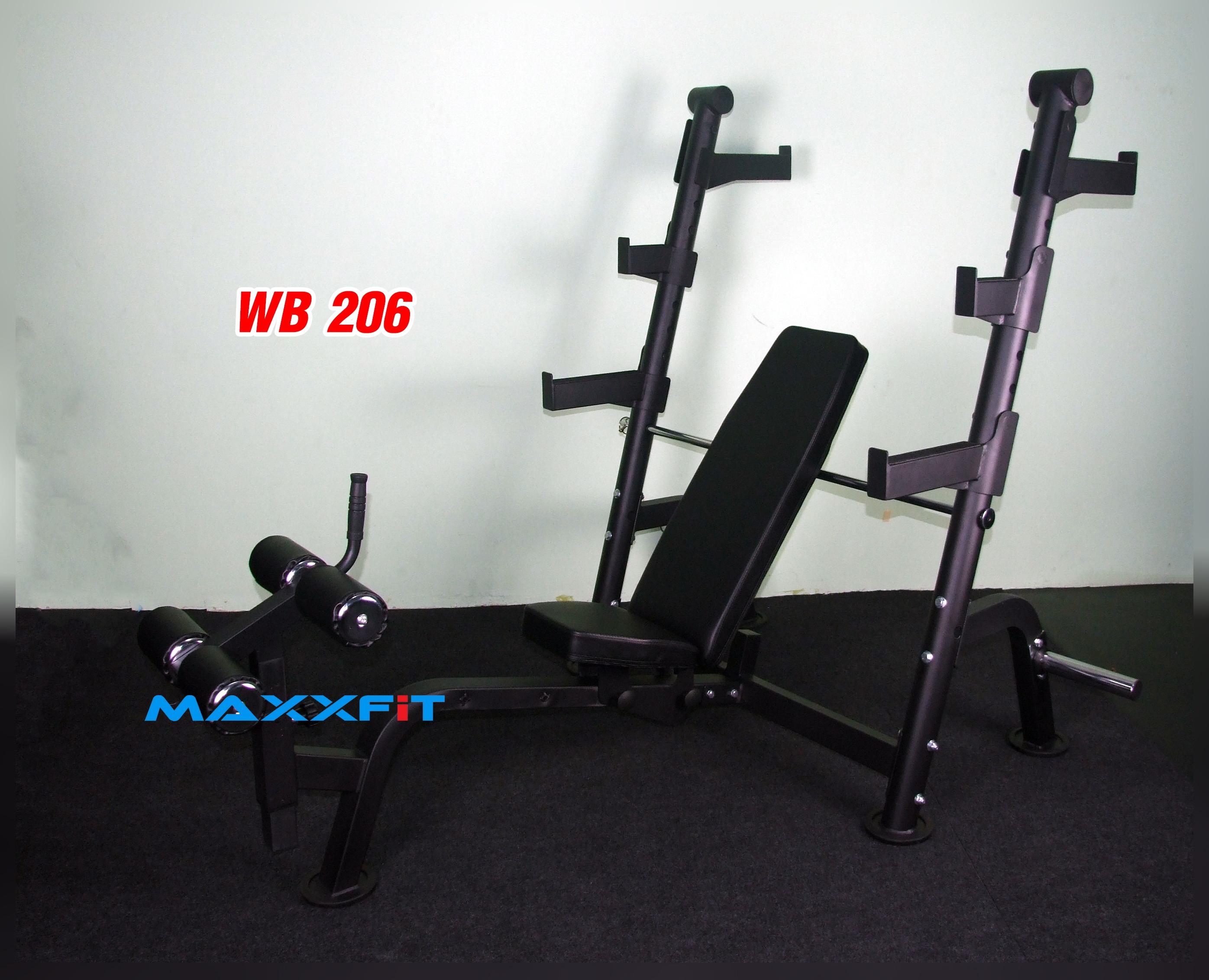 ขาย ม้านอนเล่นบาร์เบล MAXXFiT รุ่น WB206