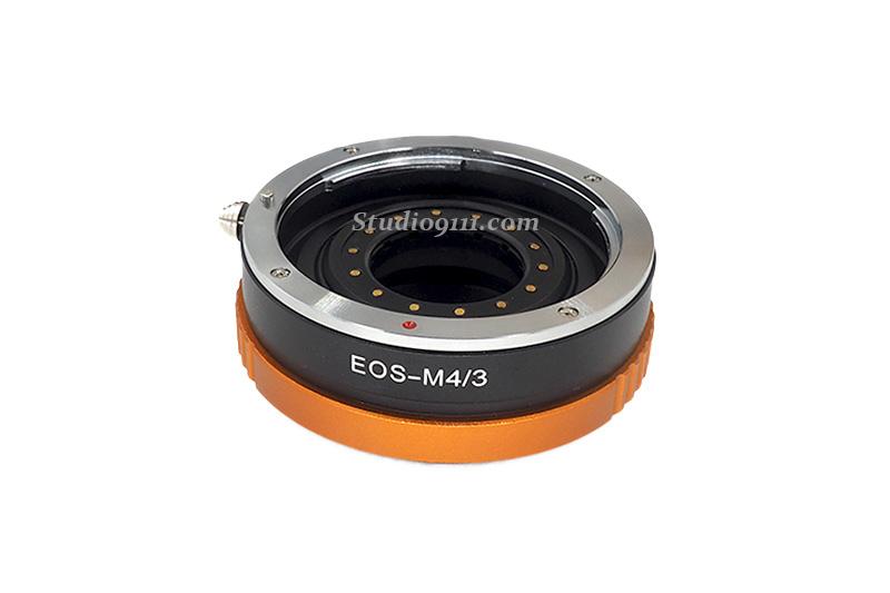 อแดปเตอร์แปลงท้ายเลนส์ CANON EOS ปรับรูรับแสงได้ ใช้กับกล้อง M4/3 (OLYMPUS, PANASONIC)