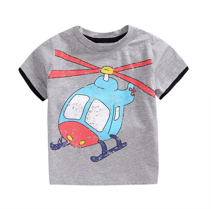 **เสื้อยืดรูปเฮลิปคอบเตอร์ สีเทา 90-130 (5pcs/pack)   5ตัว/แพ๊ค   เฉลี่ย 85/ตัว