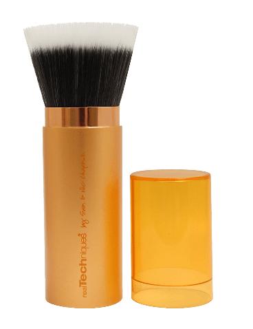 REAL TECHNIQUES :: Retractable Bronzer Brush แปรงปัดหน้าขนสังเคราะห์ สำหรับทำบรอนเซอร์ ปัดแป้งฝุ่น ด้ามแปรงหรูหรา ทันสมัย พร้อมฝาปิดเพื่อรักษาขนแปรง