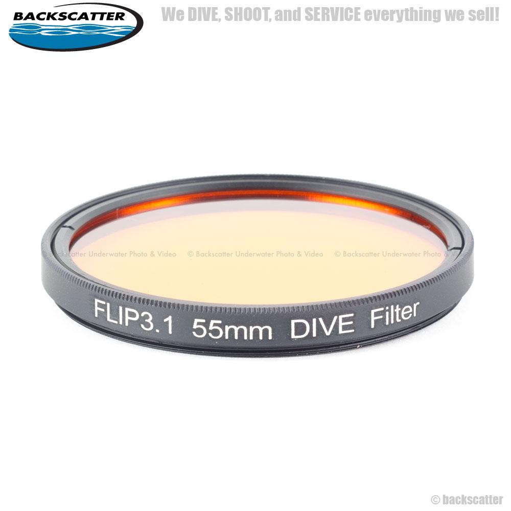 Flip3.1 Dive Filter หน้า 55mm (Red Filter สำหรับดำน้ำทั่วไป) 20-50 feet สำหรับกล้อง GoPro Hero4, Hero3+, Hero3