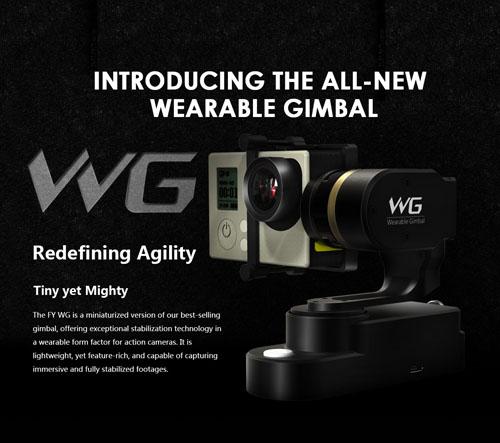 Feiyu Tech WG Wearable Gimbal Stabilizer สำหรับกล้อง GoPro Hero3+, Hero4 Silver, Black, SJCAM,SJ4000, SJ5000, xiaomi yi camera