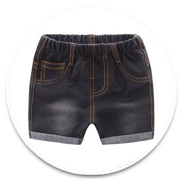 **กางเกงยีนต์สีดำขาสั้นกระเป๋าหลัง size= 90-130   5ตัว/แพ๊ค   เฉลี่ย 150/ตัว