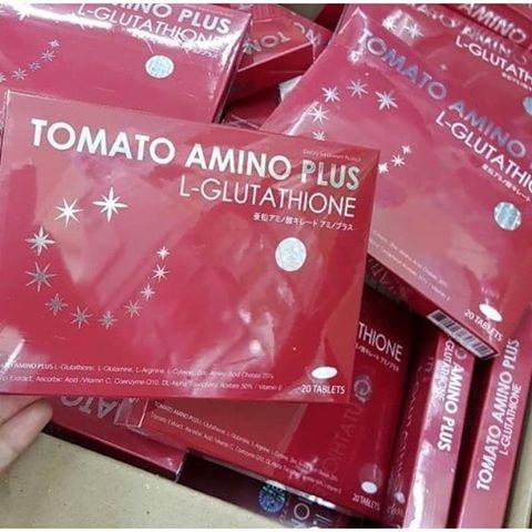 TOMATO Amino Plus L-glutathione สูตรใหม่ (โทเมโท อะมิโน พลัส แอลกลูต้าไธโอน)