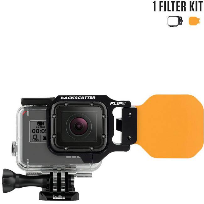 FLIP5 One Filter Kit with DIVE Filter เป็น Red Filter สำหรับกล้อง GoPro Hero5 ฺBlack, 4, 3, 3+