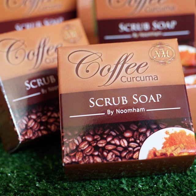 สบู่สครับกาแฟ ผสมขมิ้นชัน (Coffee Curcuma Scrub Soap By Noomham)