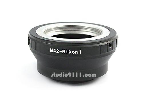 อแดปเตอร์แปลงท้ายเลนส์ M42 ใช้กับกล้อง NIKON 1