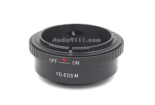 อแดปเตอร์แปลงท้ายเลนส์ CANON FD ใช้กับกล้อง CANON EOS M
