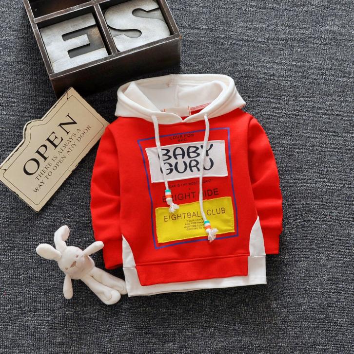 **เสื้อแขนยาว Baby Guru มีหมวก สีแดง size= s-xl | 4ตัว/แพ๊ค | เฉลี่ย 200/ตัว