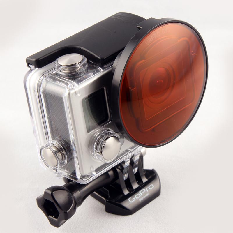 SRP BlurFix3+ Adater หน้า 55mm กับ CYD Filter (Red Filter) ใช้กับกล้อง GoPro Hero4, Hero3+ ไว้สำหรับดำน้ำลึก