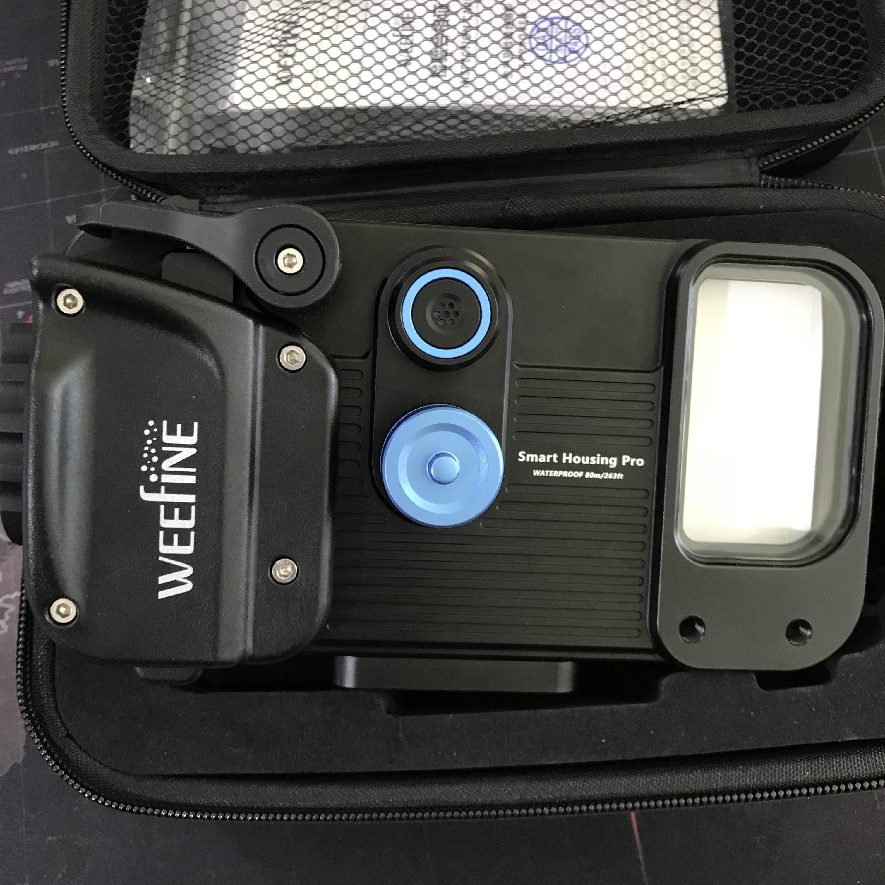 Weefine Smart Housing Pro เคสกันน้ำลึก 80 เมตร สำหรับใส่โทรศัพท์มือถือ