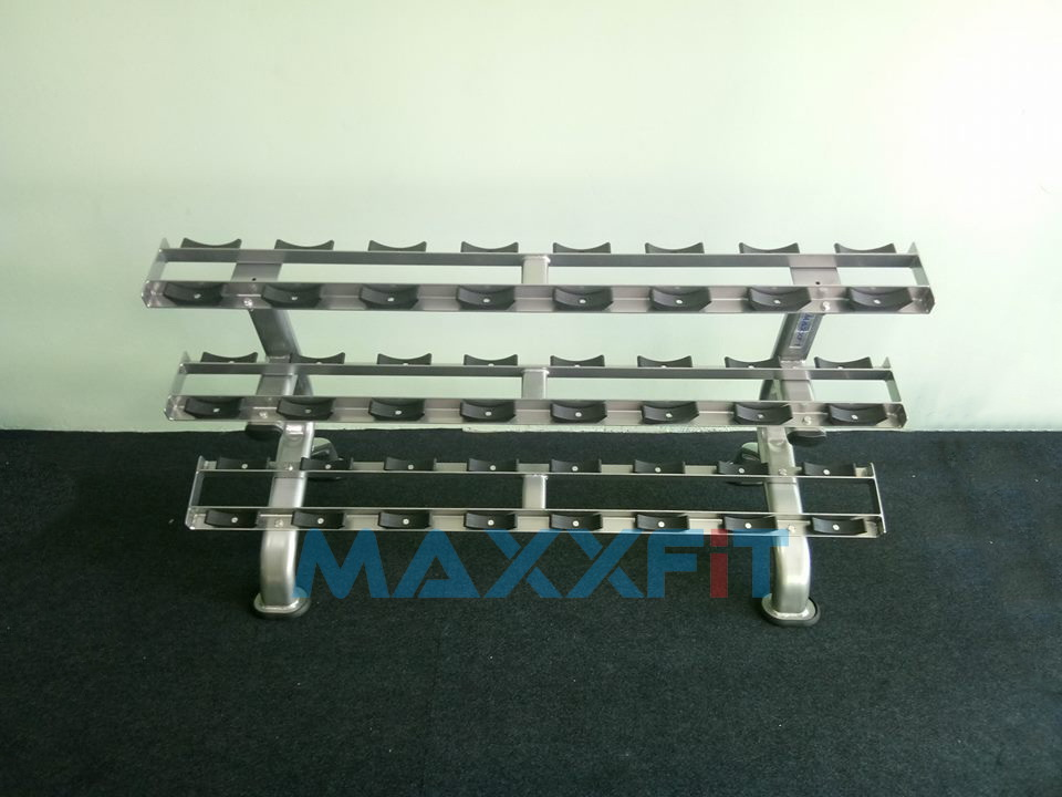 ขาย ชั้นวางดัมเบล 12 คู่ แบบ 3 ชั้น MAXXFiT รุ่น RK202