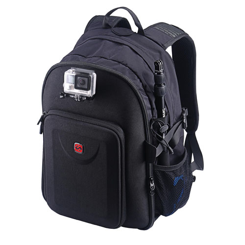 Smatree SmaPac GP2000 Multi-function Backpack for One 15''laptop,1 tablet,for 2 Gopro Hero 4,3,3+,2, hero 4 Session and for Almost Gopro Accessories- with Excellent EVA Interior(18x13x10 inches)