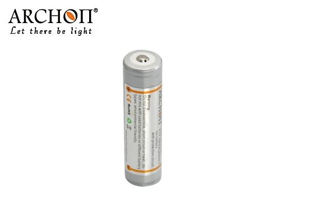 Archon 18650 2600mAh 3.7V Rechargeable Li-ion battery with protection circuit