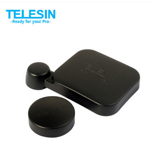 T1107 - Telesin Cover Lens Cap ป้องกันฝุ่นหน้าเลนส์ กันรอย สำหรับกล้อง GoPro Hero4 สีดำ