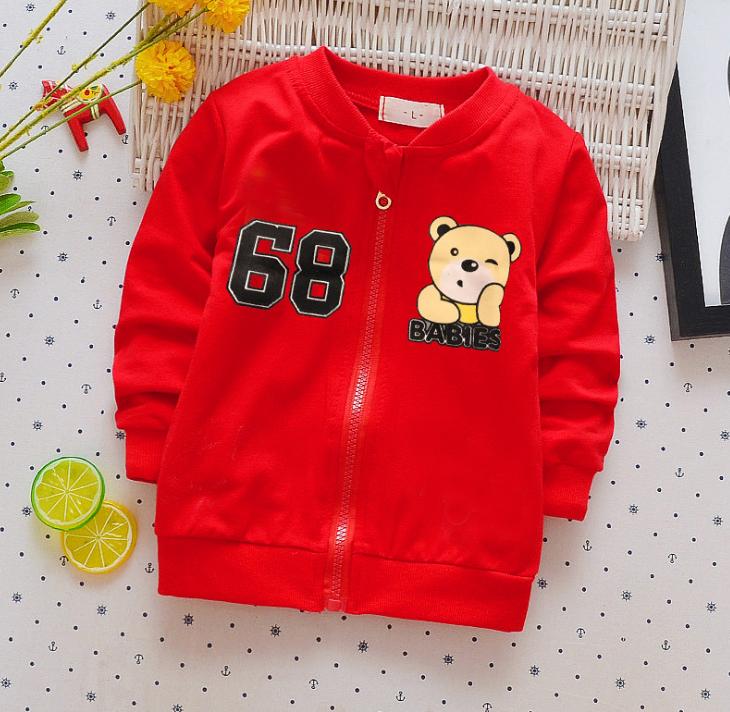**เสื้อแขนยาว 68 หมีน้อย สีแดง S-XL | 4ตัว/แพ๊ค | เฉลี่ย 150/ตัว