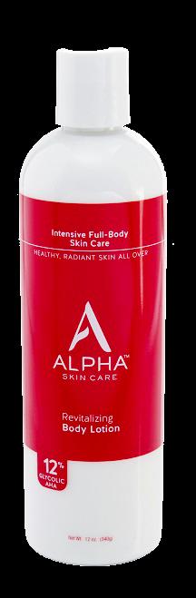 ลด 23 % ALPHA HYDROX :: Revitalizing Body Lotion 12% AHA (12% AHA Silk Wrap Body Lotion) สำหรับทำให้ผิวกายขาว ลดสีผิวไม่สม่ำเสมอ