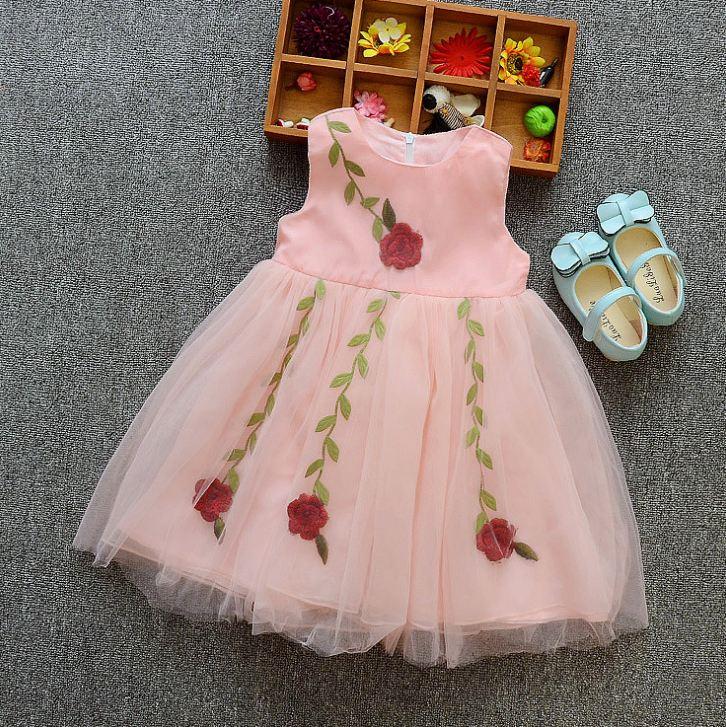 **เดรสชีฟองดอกกุหลาบสีชมพู size:110-110-120-120(4 set/pack) | 4ชุด/แพ๊ค | เฉลี่ย 250/ชุด